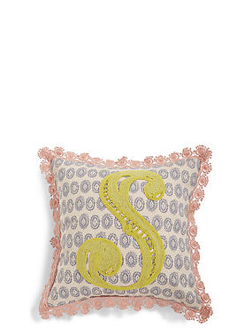 Alphabet S Cushion, , catlanding