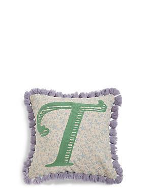 Alphabet T Cushion, , catlanding