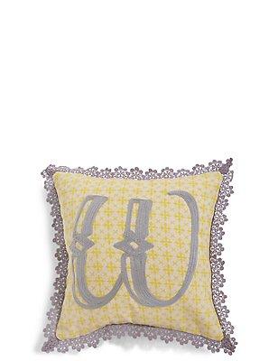 Alphabet W Cushion, , catlanding