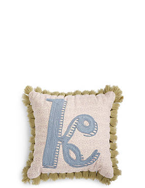 Alphabet K Cushion, , catlanding