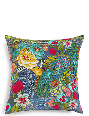 Paisley Embroidered Cushion, , catlanding
