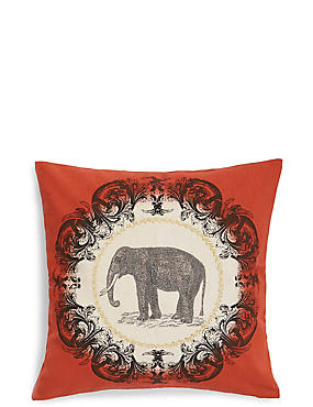 Elephant Print Cushion, , catlanding