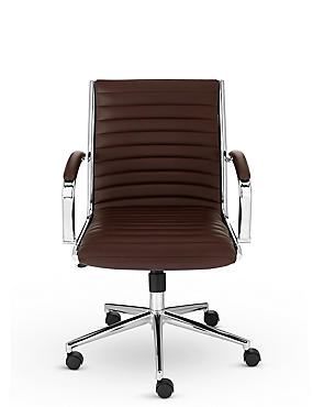Latimer Office Chair - Brown, , catlanding