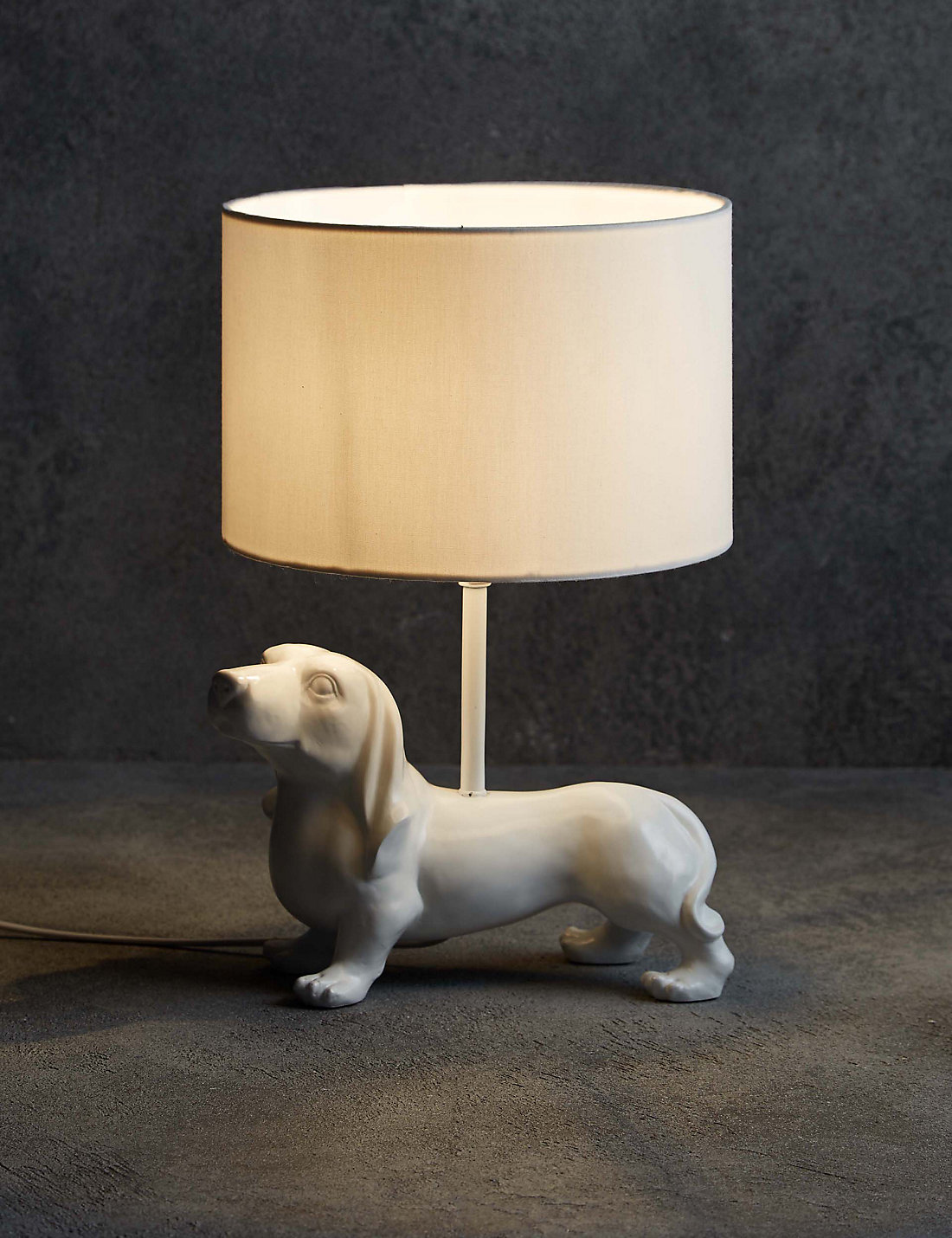 Dexter dog table lamp ms dexter dog table lamp geotapseo Gallery