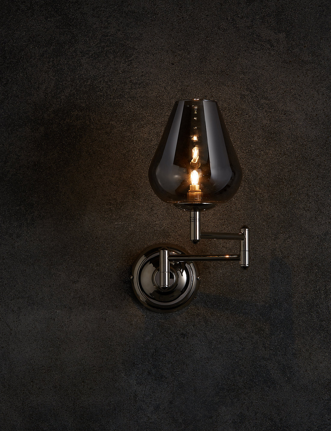 Wall lights furniture ms cass swing arm wall light aloadofball Image collections