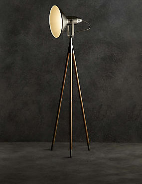 Jenson Floor Lamp, DARK BROWN, catlanding