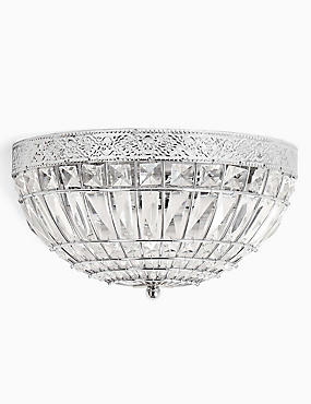 Gem Ball Flush Wall Light, CHROME, catlanding
