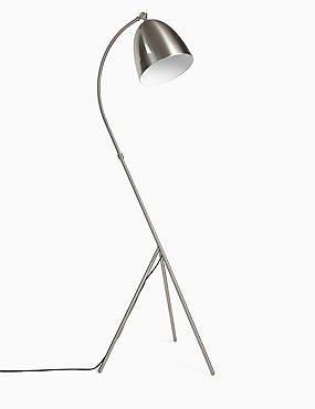 Leaning Tripod Floor Lamp, GREY, catlanding