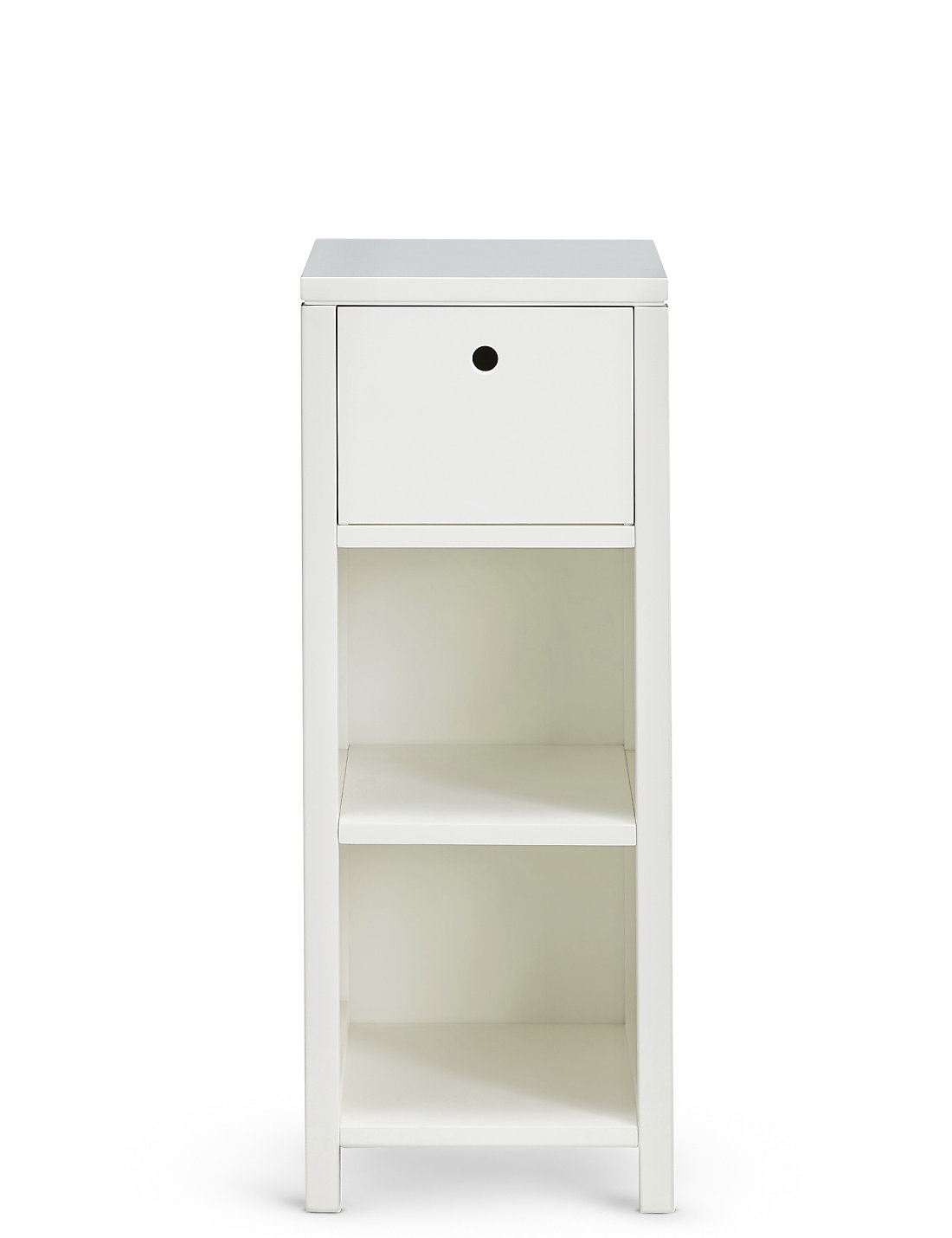 Bathroom storage units free standing - Nagoya Storage Unit White
