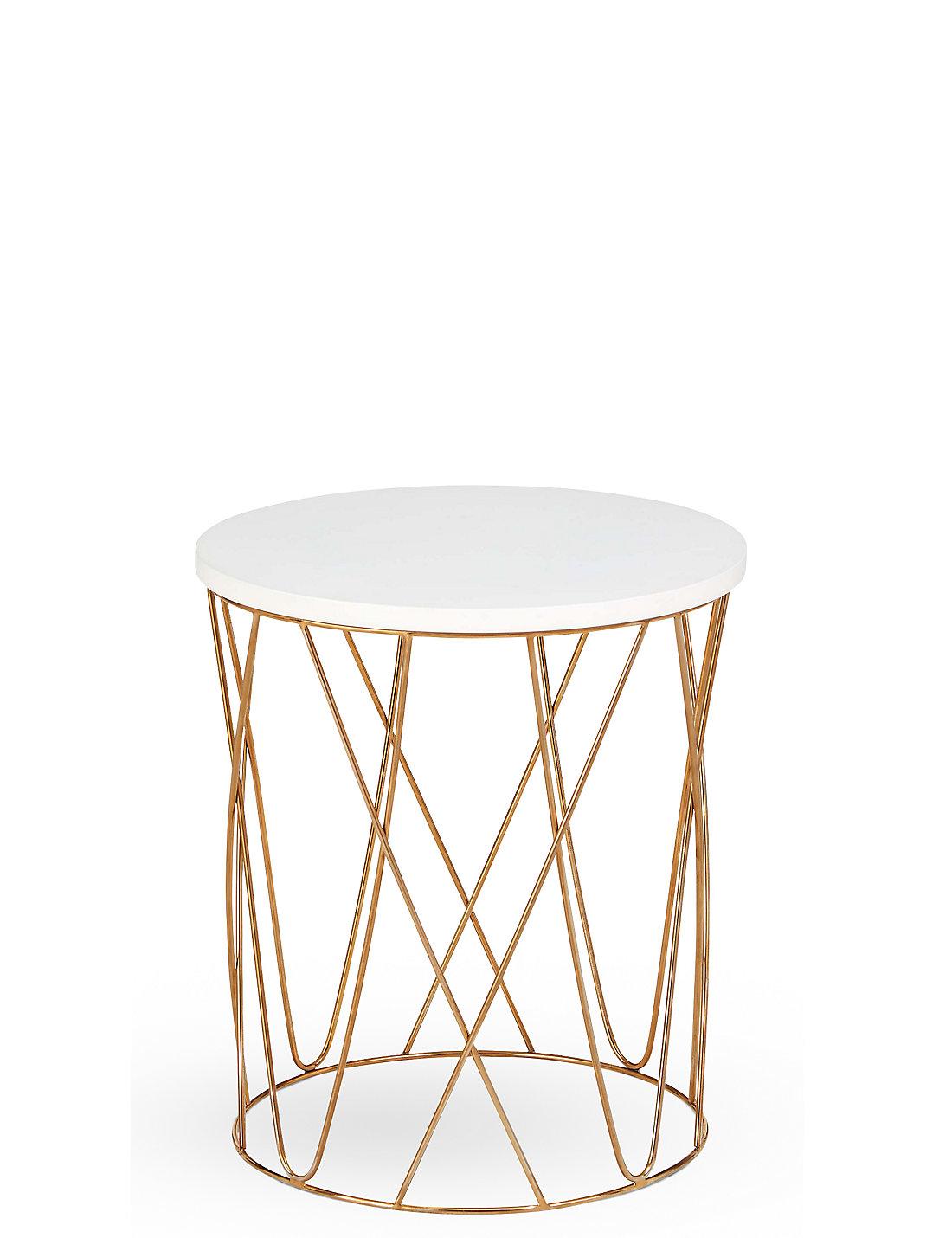 Lena copper side table ms lena copper side table greentooth Choice Image
