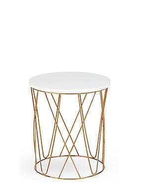 Lena Copper Side Table, , catlanding