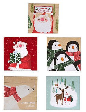 Winter Characters Christmas Charity Cards Pack of 30, , catlanding