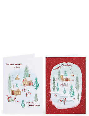 Winter Scene Christmas Charity Cards Pack of 20, , catlanding