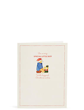 Special Little Boy Paddington™ Christmas Card, , catlanding