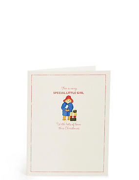 Special Little Girl Paddington™ Christmas Card, , catlanding