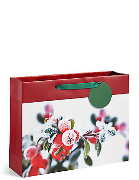 Winter Berries Large Christmas Gift Bag, , catlanding