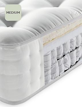 Lambswool Comfort 1800 Mattress, WHITE, catlanding