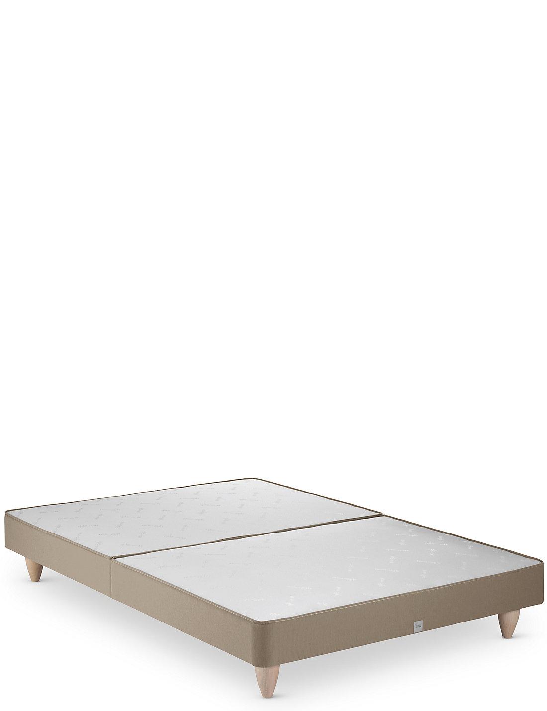 Divan bed base single grey fabric divan bed set memory for Sprung base divan bed with storage