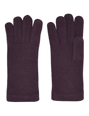 Cashmilon™ Knitted Gloves, PURPLE, catlanding