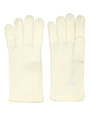 Cashmilon™ Knitted Gloves, CREAM, catlanding