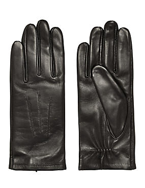Leather Ruched Gloves