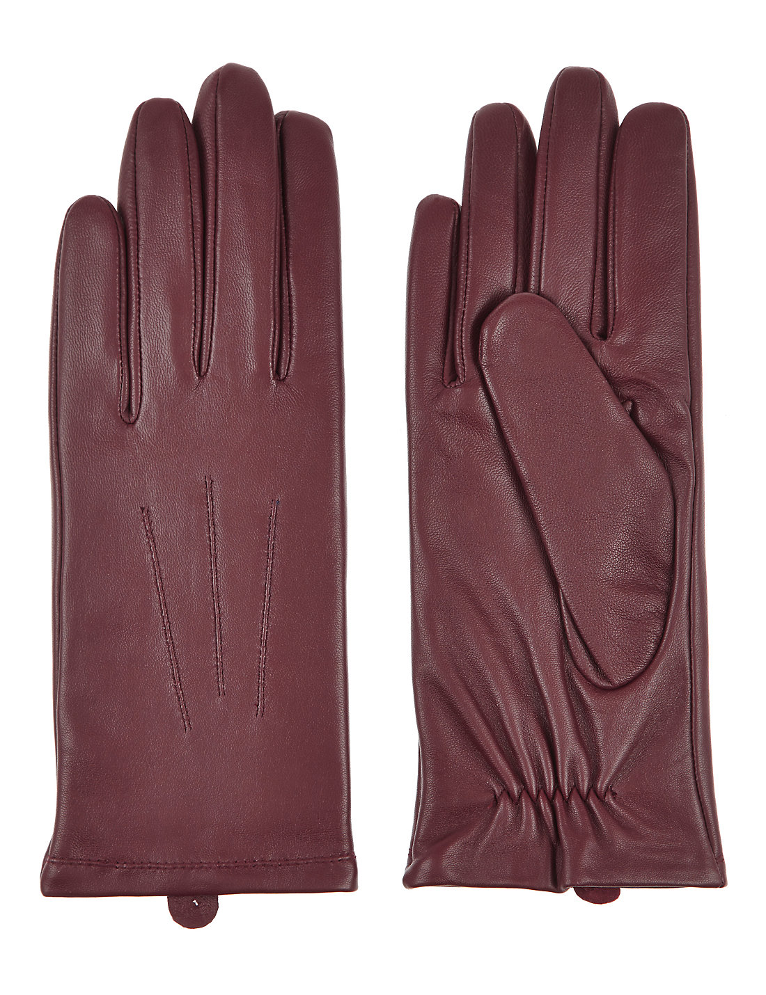 Ladies leather gloves navy - Mens Leather Gloves Marks Spencer Leather Stitch Detail Gloves