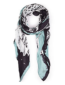 Blue Mix Pure Modal Lightweight Paris Print Scarf