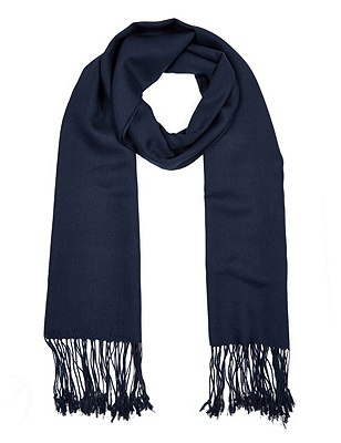 Modal Blend Pashminetta Scarf with Wool, NAVY MIX, catlanding
