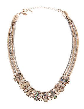 Shell Reflect Diamanté Necklace