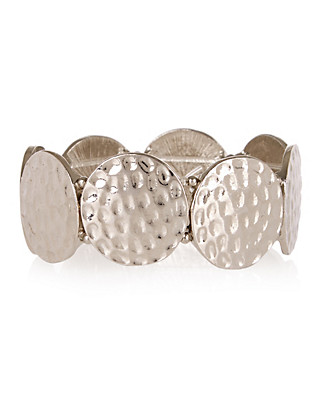 Metal Disc Stretch Bracelet Clothing