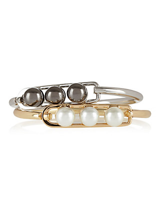 Pearl Effect Cuff Bracelet Clothing