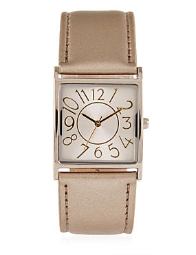 Large Square Face Strap Watch, , catlanding