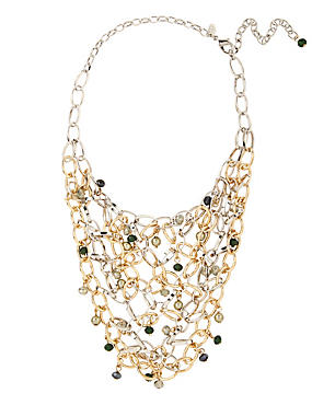 Linked & Assorted Bead Bib Necklace