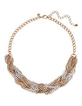 Chain Knot Linked Necklace