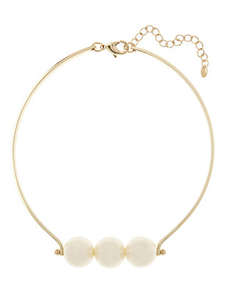 Pearl Effect Choker Necklace Clothing