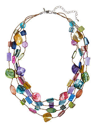 Multi-Strand Chip Necklace Clothing
