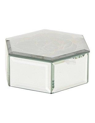 Etched Floral Hexagon Box, , catlanding