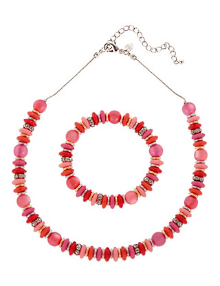 Assorted Disc Necklace & Bracelet Set Clothing