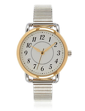 Round Face Expandable Watch, , catlanding