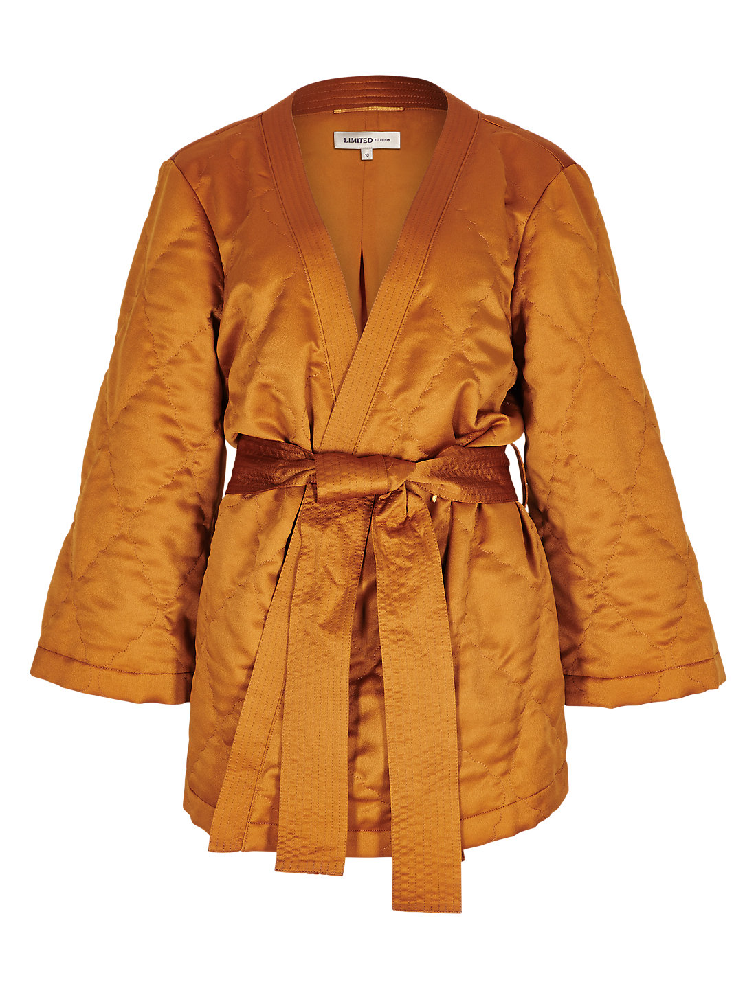 3/4 Sleeve Quilted Kimono Belted Jacket | M&S : quilted kimono jacket - Adamdwight.com