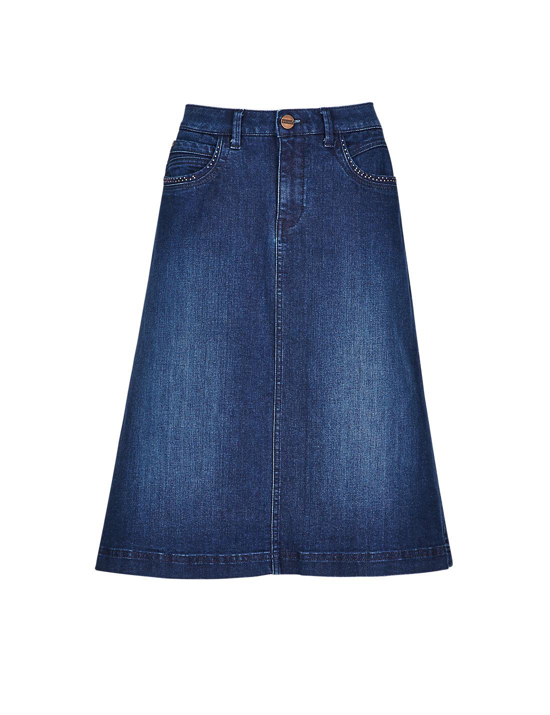 m and s denim skirt skirt ify