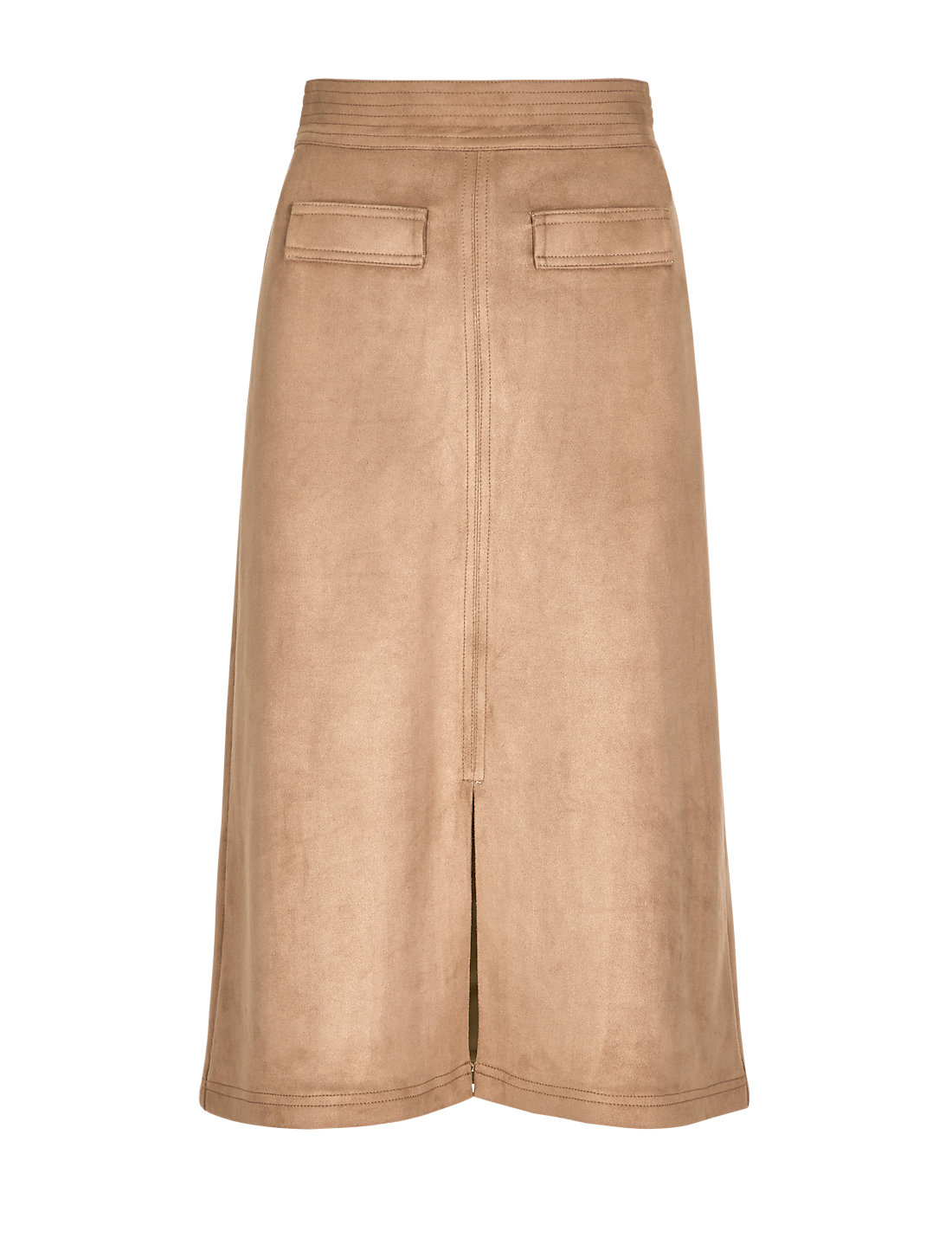 Faux Suede A-Line Skirt | M&S