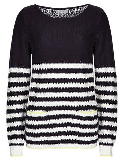 Pure Cotton Nautical Striped Jumper Clothing