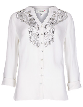 Floral Embroidered Blouse Clothing