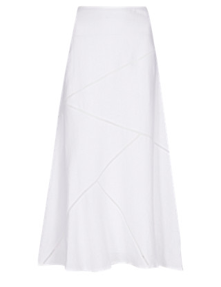 Pure Linen Panelled Maxi Skirt Clothing