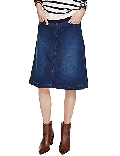 Stud Pockets A-Line Denim Skirt | M&S
