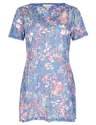 Burnout Floral Tunic Clothing