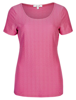 Cotton Rich Textured T-Shirt Clothing