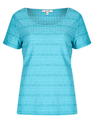Textured T-Shirt Clothing