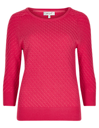 Waffle Stitch Soft Knit Jumper Clothing